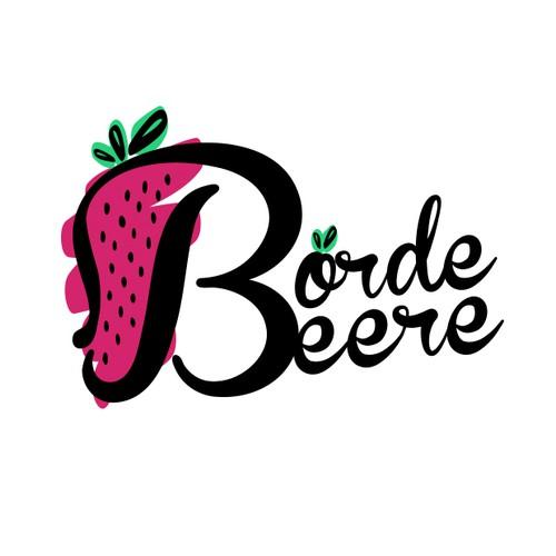 Logo for strawberry marketing