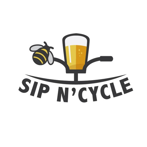 simple logo concept for bycicle bar