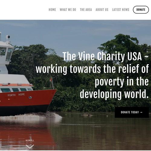 Website design for US based charity