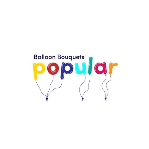 Logo concept for a balloon bouquet's brand