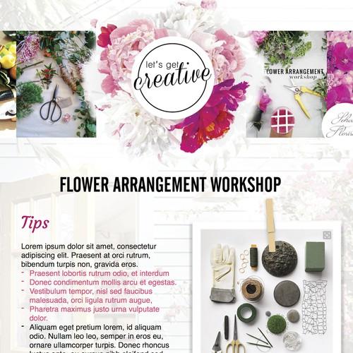 Class notes for a Floral Arrangement Worskshop