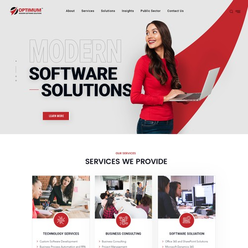 New a modern new web design for our IT/Software company