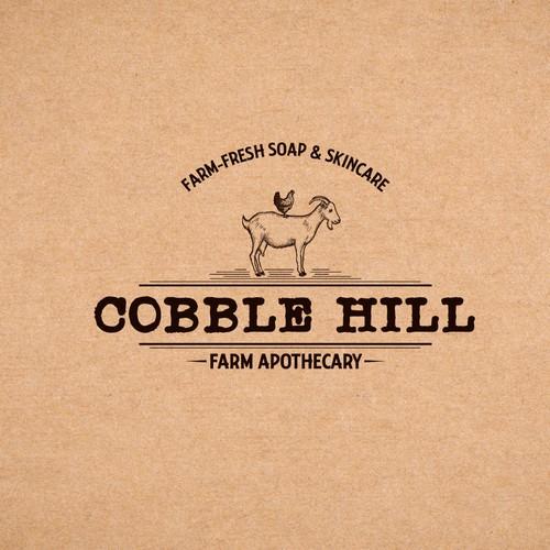 Vintage farm apothecary logo