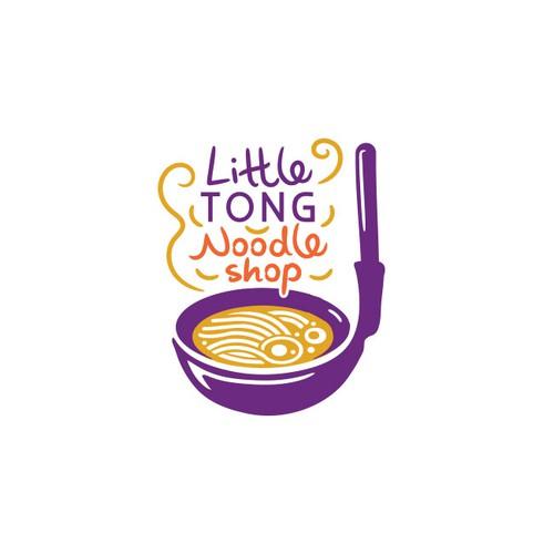 Fun logo for noodle shop