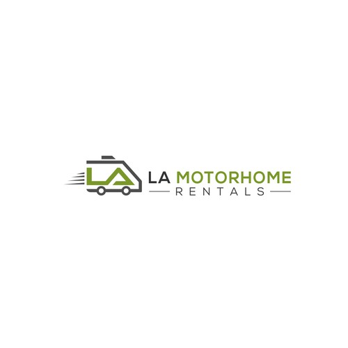 Logo concept for 'LA Motorhome Rentals'