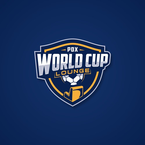 modern logo badge design concept for PDX World Cup Lounge