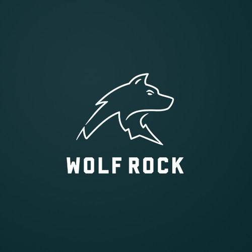 This wolf rocks!