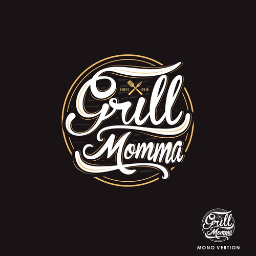 logo for a grilling/bbq page for a female griller!