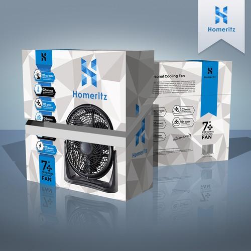 Homeritz Personal Fan Packaging Design