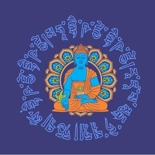 Medicine buddha tshirt design