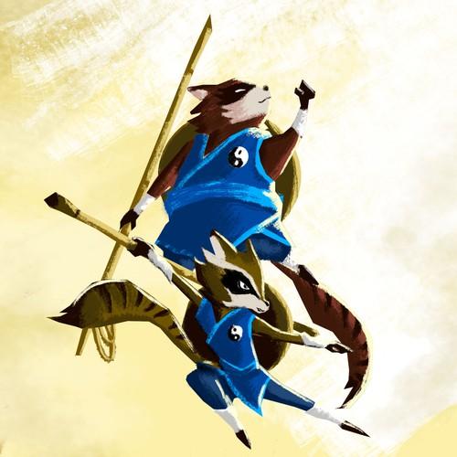 Fighting Tanukis mascot