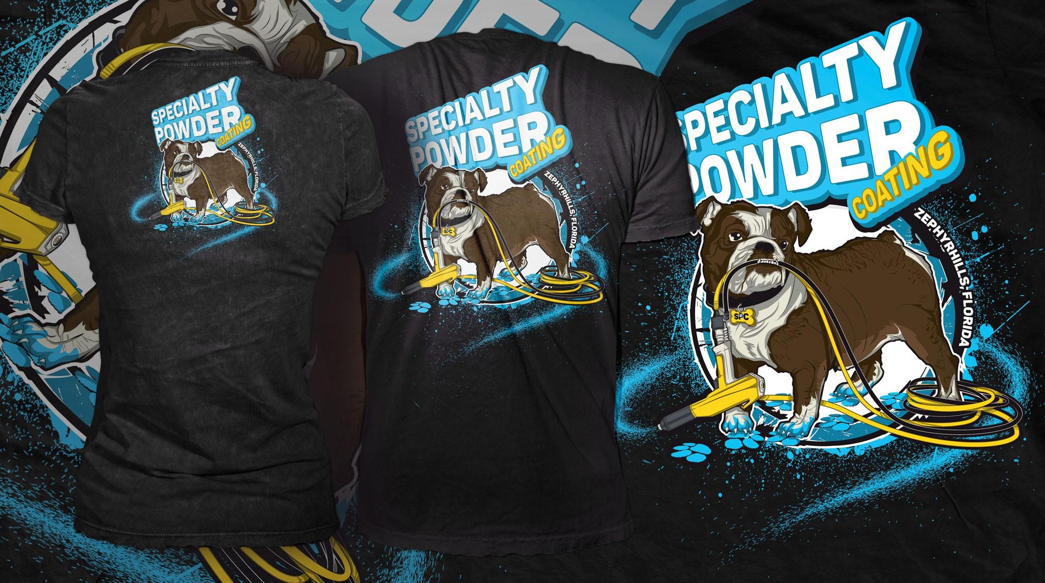 Bulldog mascot for Specialty Powder Coating