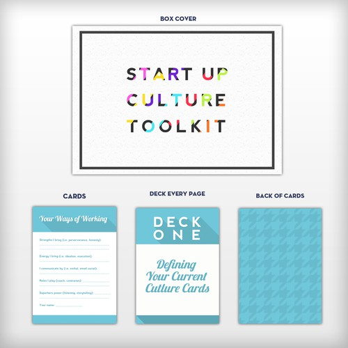 Card Design for START-UP CULTURE TOOLKIT