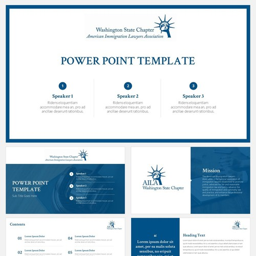 Powerpoint Template for American Immigration Lawyers Association