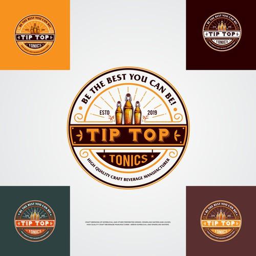 Tip Top Tonics Logo and Brand Identity Design