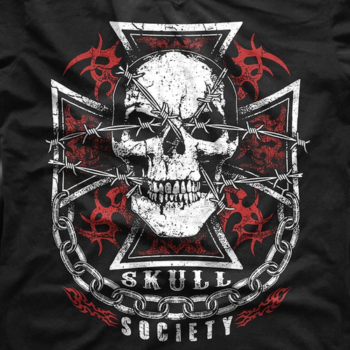 Skull Society Biker Club T-Shirt