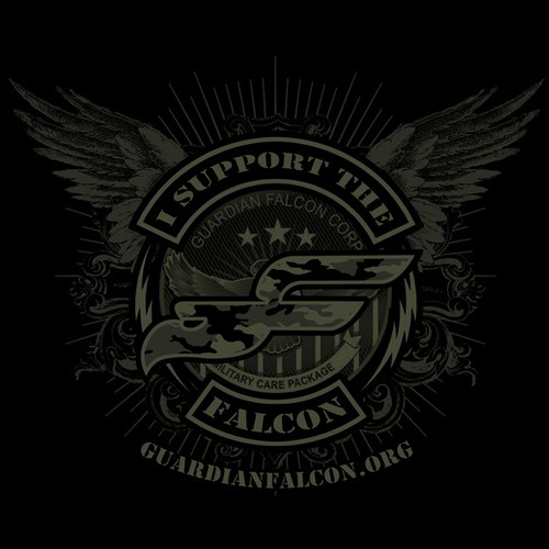 Military Non Profit T Shirt - GUARDIAN FALCON CORP