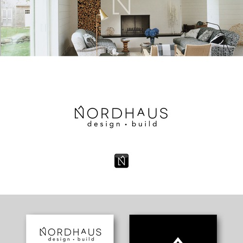 nordic - clean - modern retail style logo for design build company
