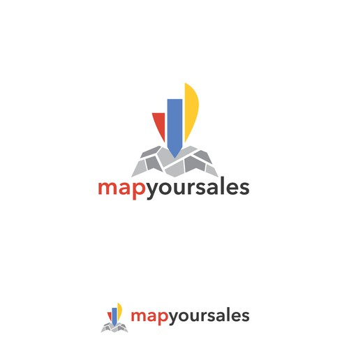 Modern logo for Map Your Sales