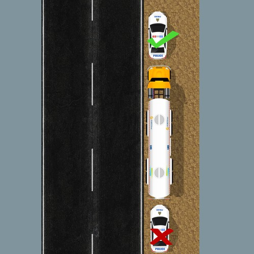 Truck Illustration for safety