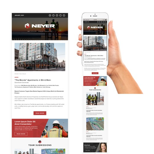 Email design for Neyer
