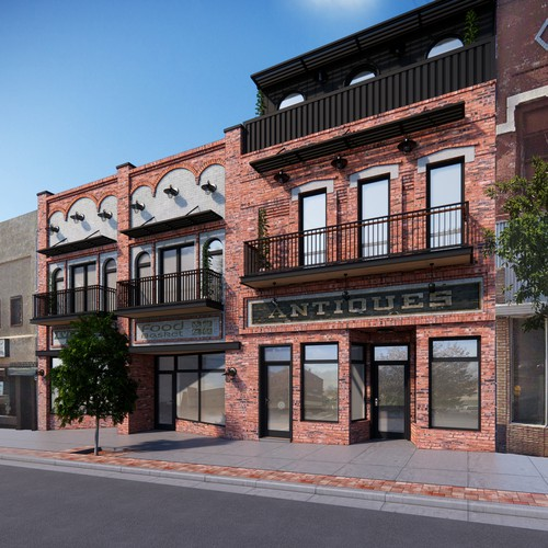 New Elevation of an Existing Building in Santa Fe