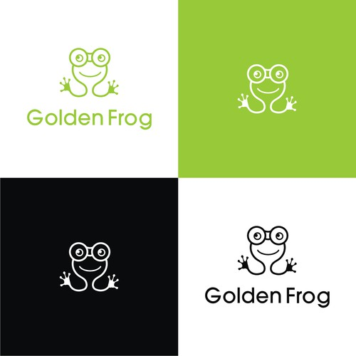 logo concept for golden frog