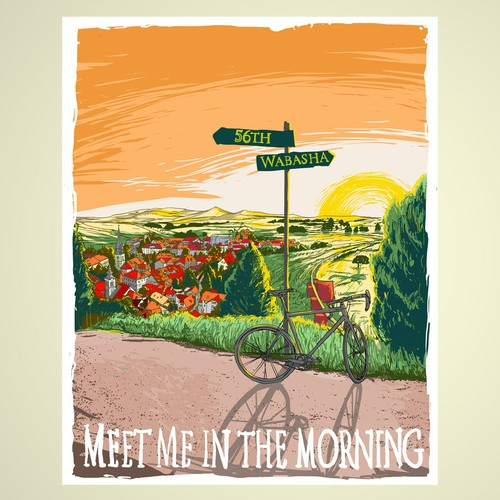 Create Illustration for Cycling Poster