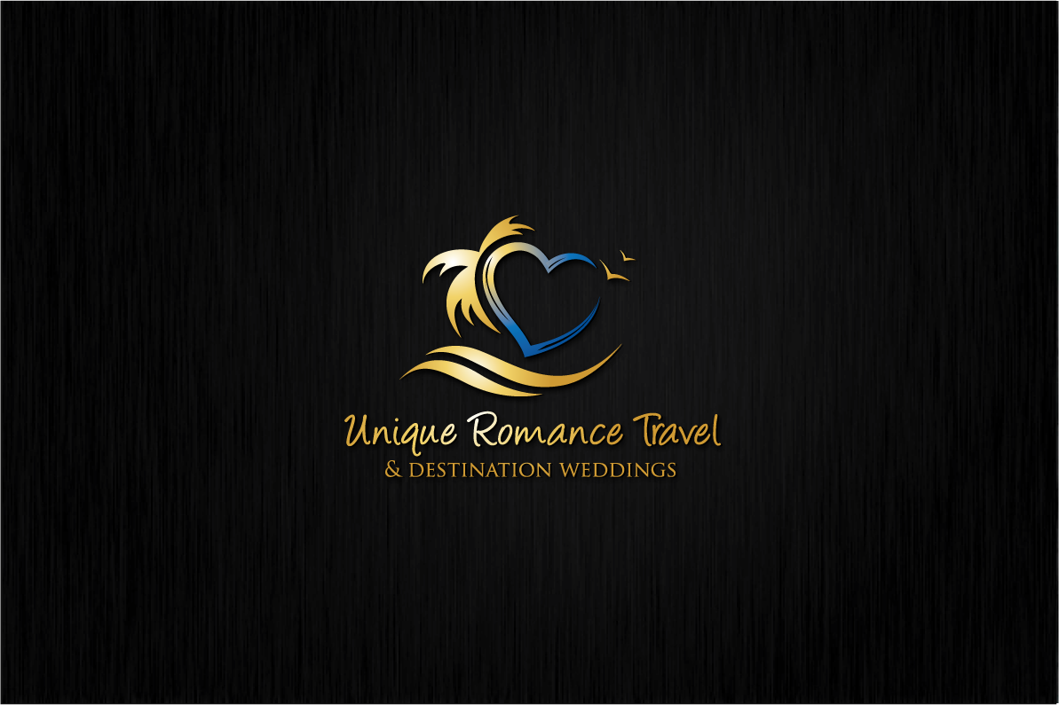 Create a LUXURY ROMANCE TRAVEL AGENCY identity targeting the wedding industry.