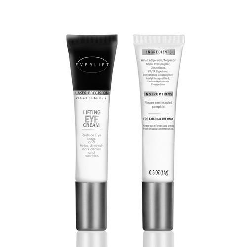 Eye cream label for tube