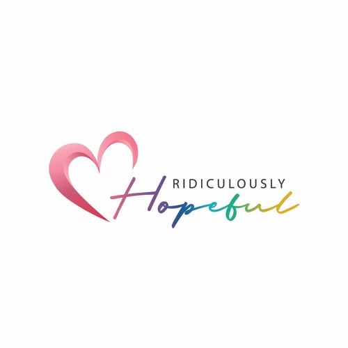 an inspirational logo appealing to women fostering a feeling of hope