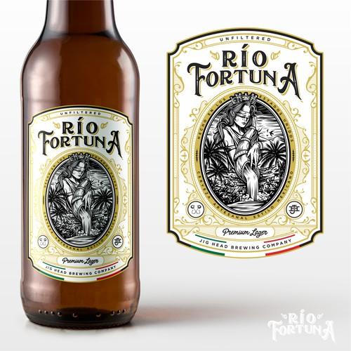 Classy Río Fortuna Logo and Label designs