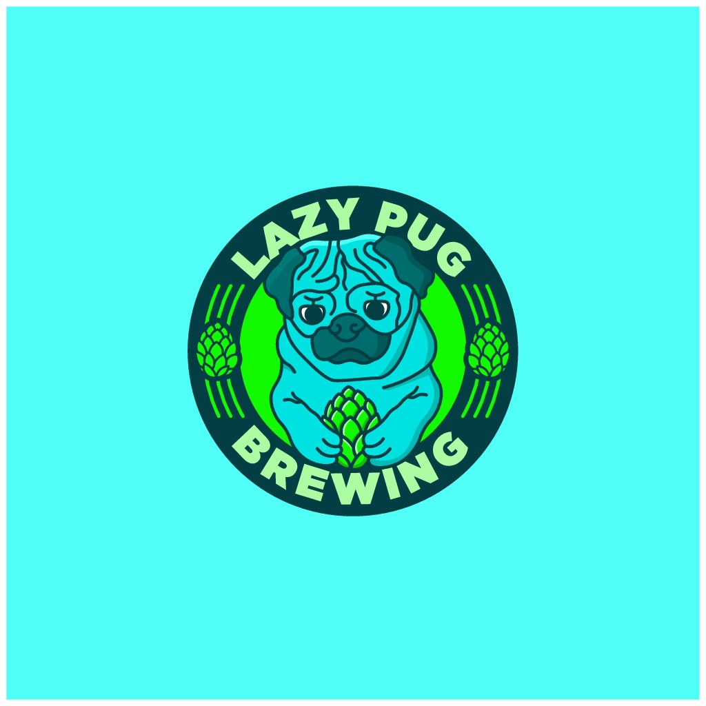 "Logo needed for beer-lovers and pug-lovers for Chesapeake Bay-based ""Lazy Pug Brewing""."
