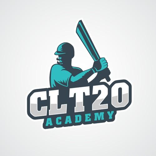 Online cricket academy logo.