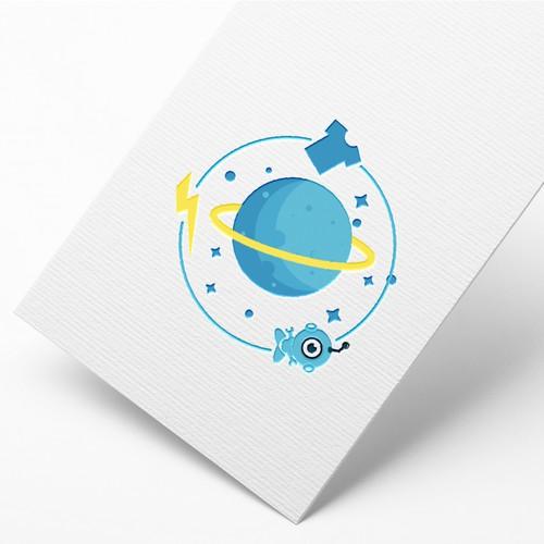 Top random space logo