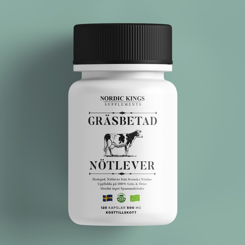 Swedish Grass Fed Beef Liver Supplement