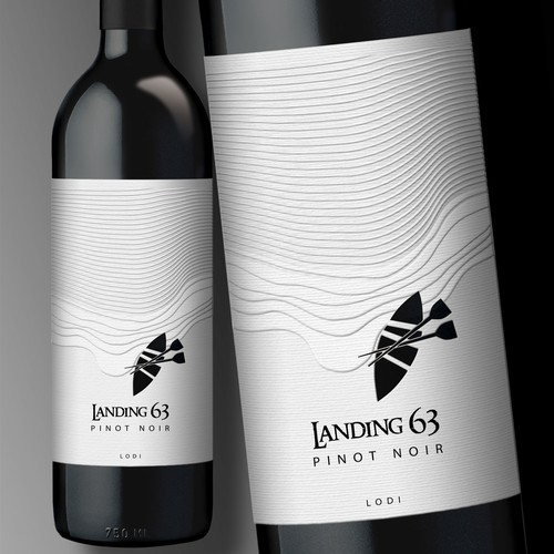 Wine Label for Landing 63