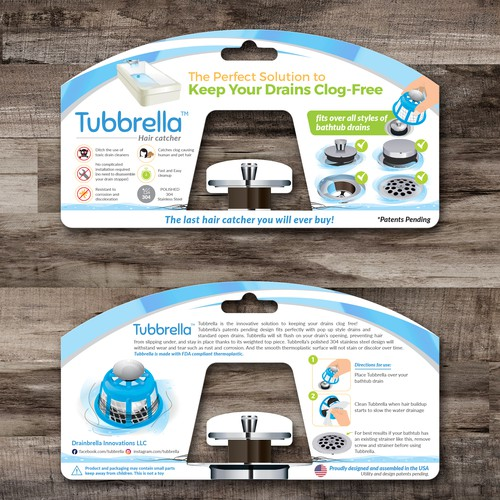 Tubrrella Blister Card Design
