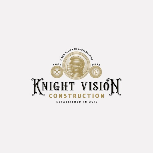 Vintage Logo For Knight Vision
