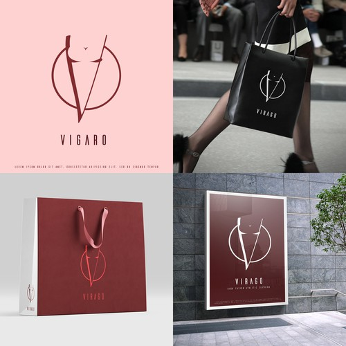 Logo concept for a female clothing brand