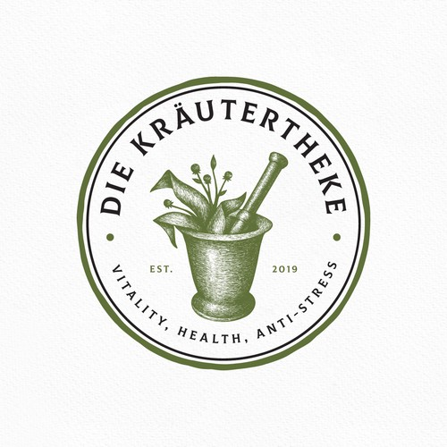 Sophisticated Herb & Mortar logo!