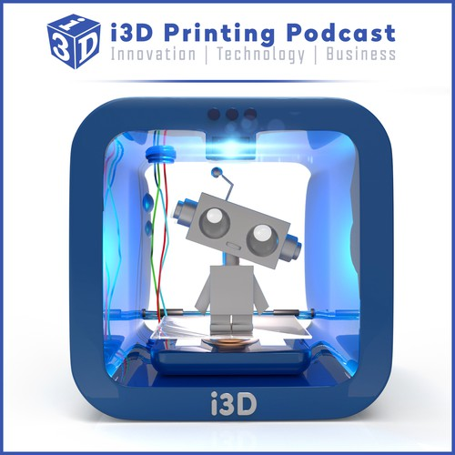 Create an innovative Podcast Cover for i3D Printing Podcast