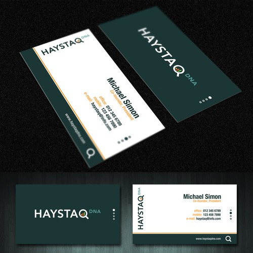 Design a business card for creative big data consulting firm