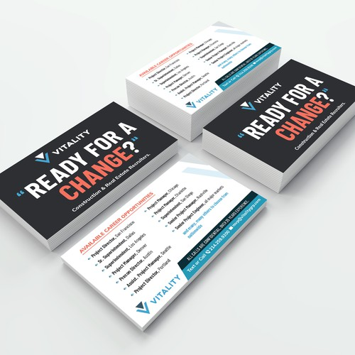 Business card format/size flyer for handing out to potential customers