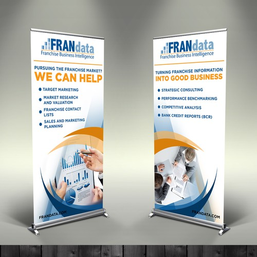 2 pull-up banner with a table cover design