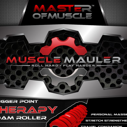 "Create an impactful and stunning Label/Poster for the master of Muscle ""Muscle Mauler"""