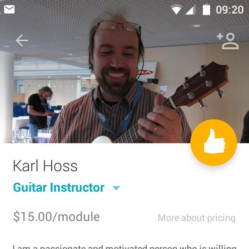 Professional Details page