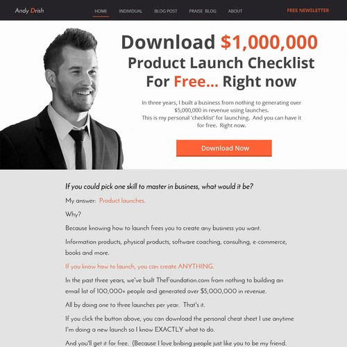 Simple. Elegant. Clean. Wordpress Theme For Entrepreneur