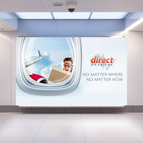 Direct Courier signage design