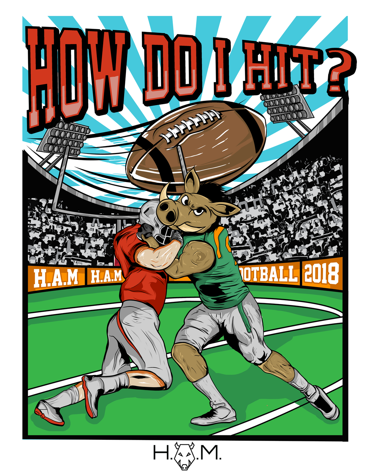 H.A.M. HOW DO I HIT? T-SHIRTS